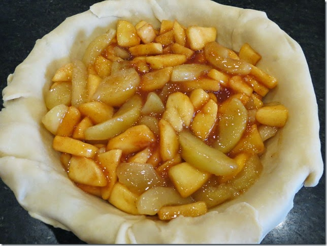 Apple Pie ready for top crust
