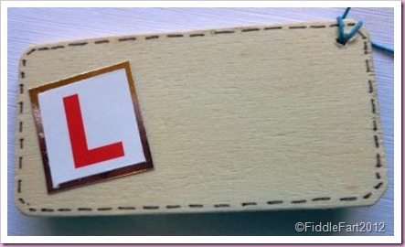 Driving test Wooden Gift Tag 1
