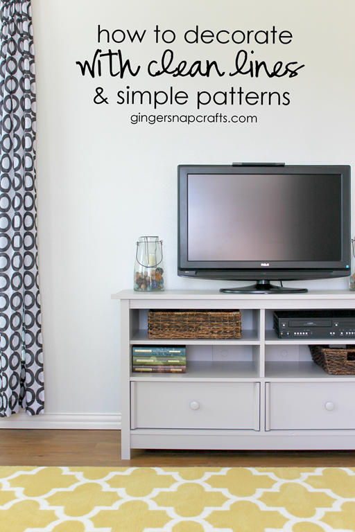 how to decorate with clean lines & simple patterns at GingerSnapCrafts.com