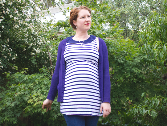 Tunic tops make great maternity wear ~ the long length covers bump nicely | Lavender & Twill