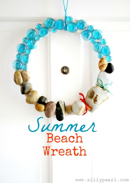 The Silly Pearl Summer Beach Rock Wreath
