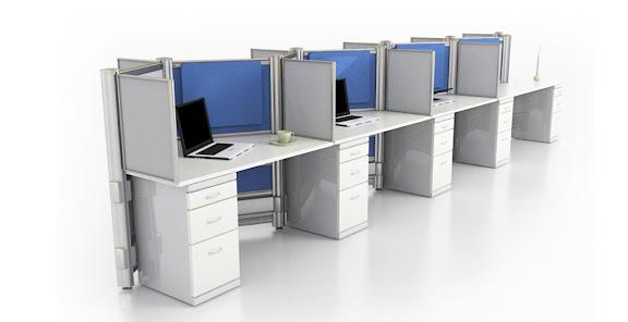 Estacion de Trabajo Multiple con Archivero