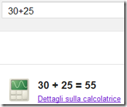 Usare la ricerca Google come calcolatrice