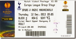 Spurs vs Anzhi stub