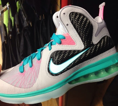 nike lebron 9 gs miami vice 1 01 Nike LeBron 9 GS Miami Vice   South Beach For Kids
