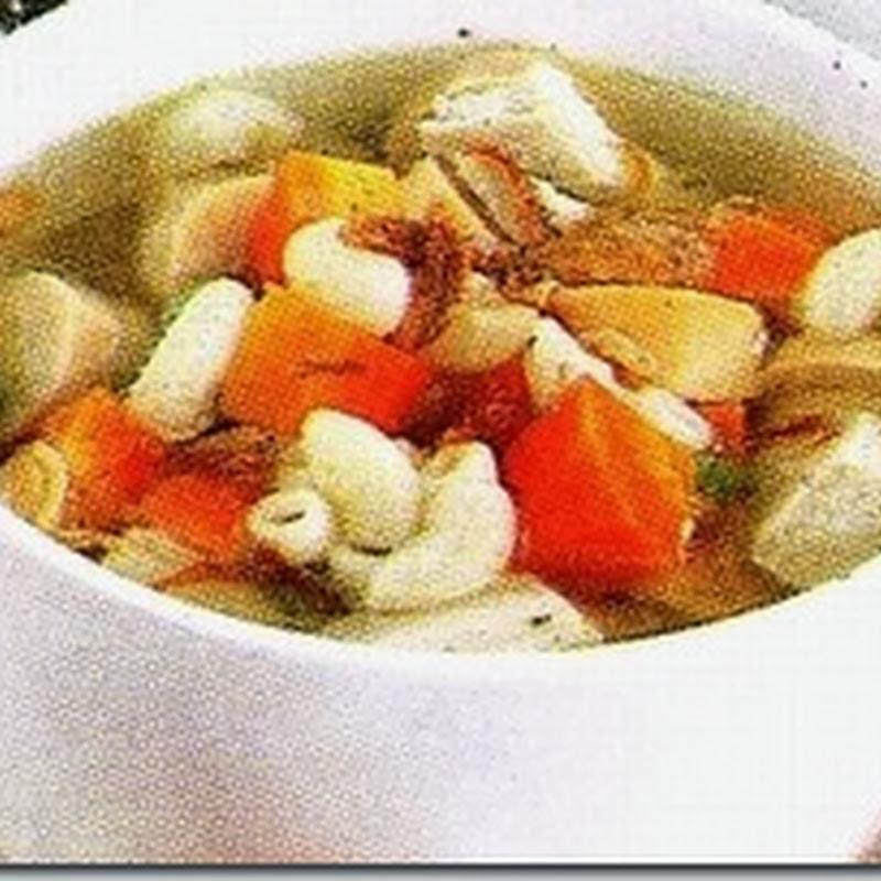 Resep Masakan Sup Ayam Makaroni