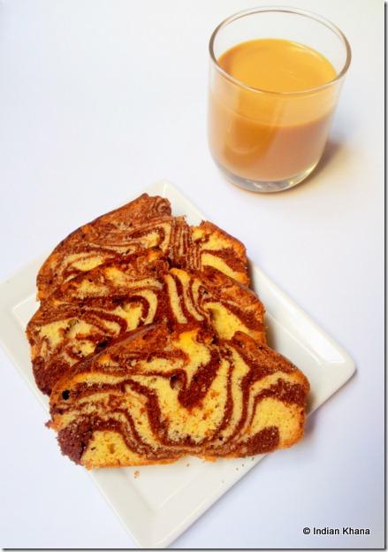 Marmer Cake tea time cake recipe