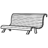 BENCH COLORING PAGES