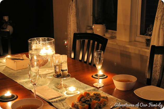 valentine's date half table