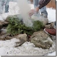 burning yule greens