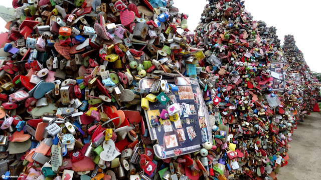 unlimited LOVE at the N Seoul tower in Korea in Seoul, Seoul Special City, South Korea