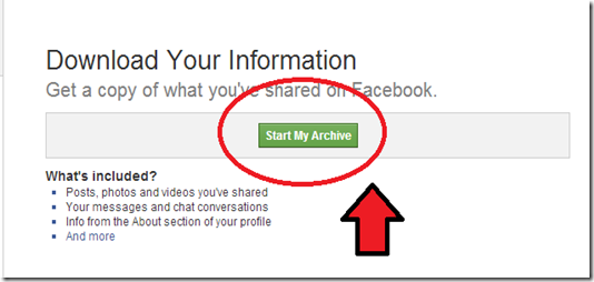 data you shared with facebook
