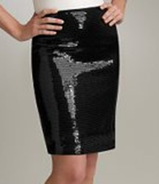 black sequined skirt