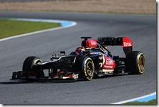 Raikkonen con la Lotus nei test di Jerez 2013