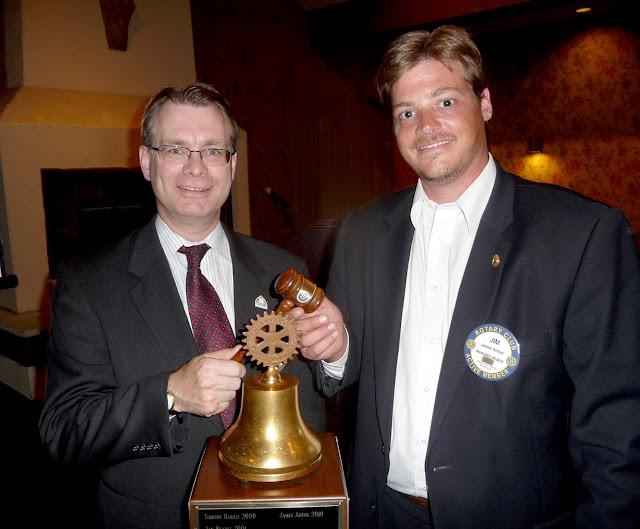 Club President Chuck Parkinson and Past Club President Jim Anton