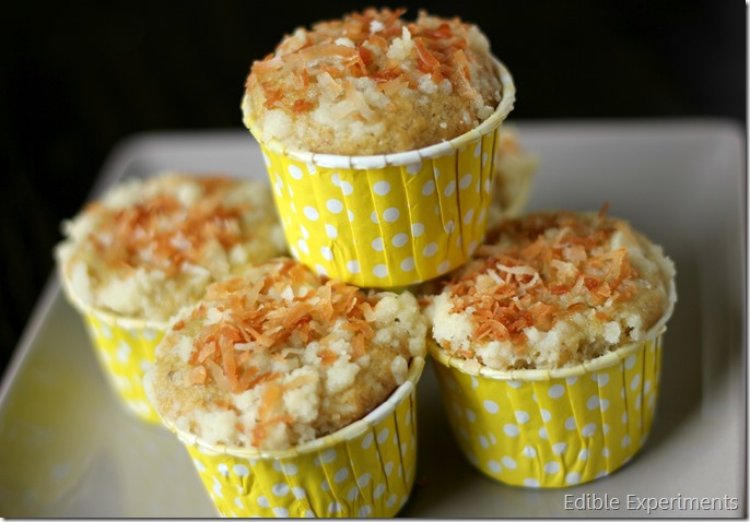 Mango Coconut Bananas with Toasted Coconut Streusel