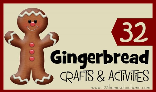 32 Gingerbread Crafts and Kids Activities - so many fun, creative, and original ideas for Christmas