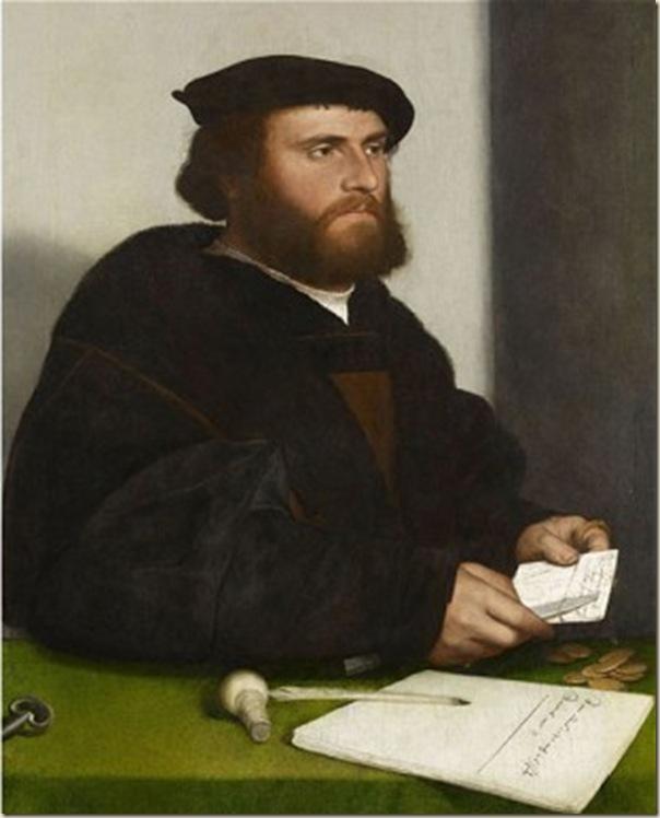 Portrait d'homme lisant une lettre