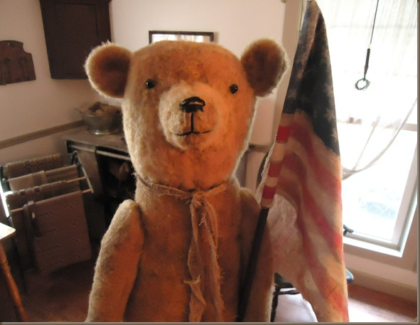 Patriotic bear 1 face
