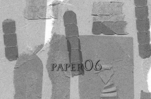 Pinceles de papel con marcas