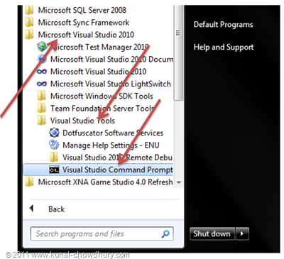 WP7.1 LocalDBDemo - Visual Studio 2010 Command Prompt