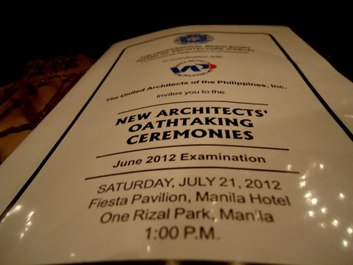 June 2012 New Architects' Oath taking Ceremony