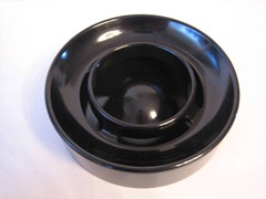 Enzo Mari Lotus ashtray, black