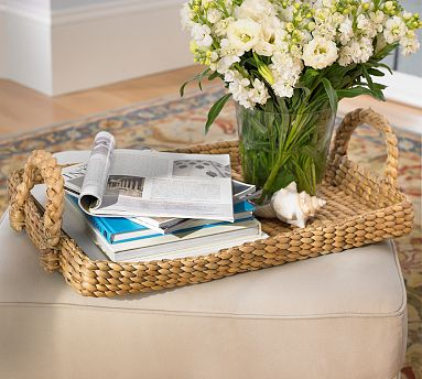 Have breakfast in bed, or just lay out a few magazines on this nice woven tray. (potterybarn.com)