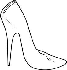 Dibujos De Zapatos De Tacon Para Colorear