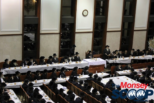 Yartzheit Tish For Stamar Rebbe Held In Satmar Beis Medrash Of Monsey (Photos by Moshe Lichtenstein) - IMG_5458.JPG
