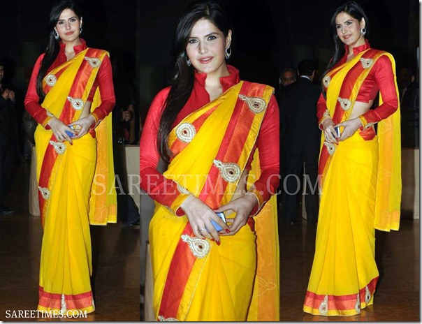 Zarine_Khan_Yellow_Saree