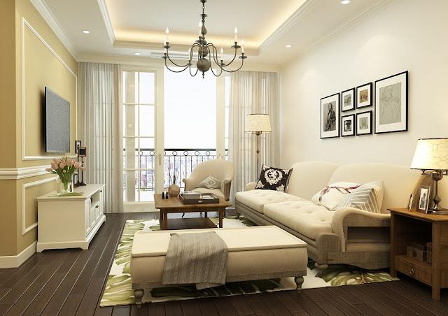 Phòng khách chung cư hanoi landmark 51