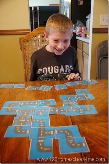 Crazy Roads Sight Word Games with Pre Primer Doclch Words