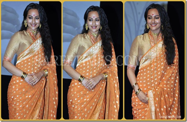 Sonakshi_Sinha_Quarter_Sleeves_Saree_Blouse