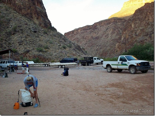 02 Packing under first light on canyon walls across from Diamond Creek Hualapai Reservation AZ (1024x770)