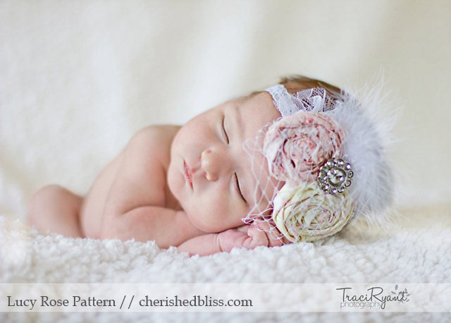DIY Baby Vintage Headband by Cherished Bliss - beautiful!