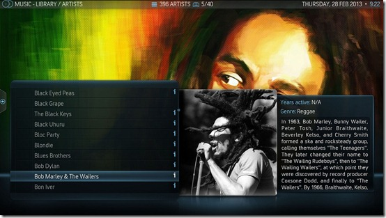10-XBMC-V12-AeonNox-Music-Artists-TriPanel-View