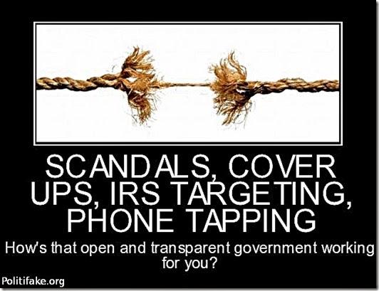 Obama Scandals & Transparent Govt