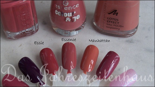 Dupevergleich Essie In Stitches Essence English Rose Manhattan 59L 2