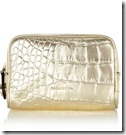 Karen Millen Metallic Croc Leather Makeup Purse