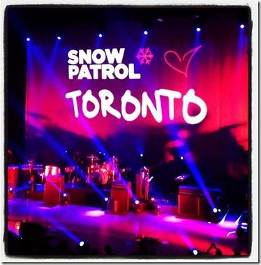 snow patrol hearts toronto