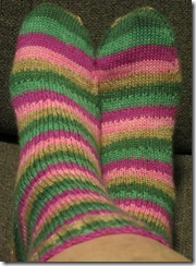 Downton Abbey Socks Completed
