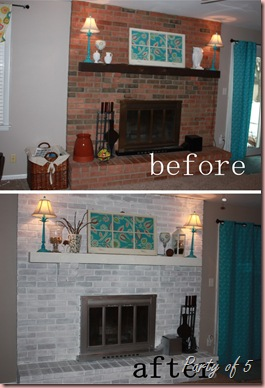 before after fireplace