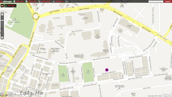 Greentown Dim Sum Cafe Map