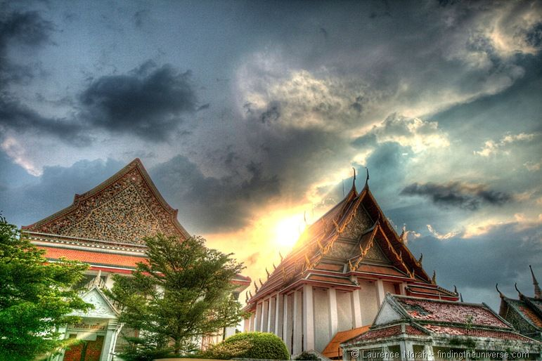 Bangkok temple against sky