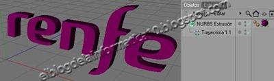 Convertir logo 2D a 3D: Cinema 4D