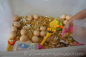 Sensory Play for learning ABCs