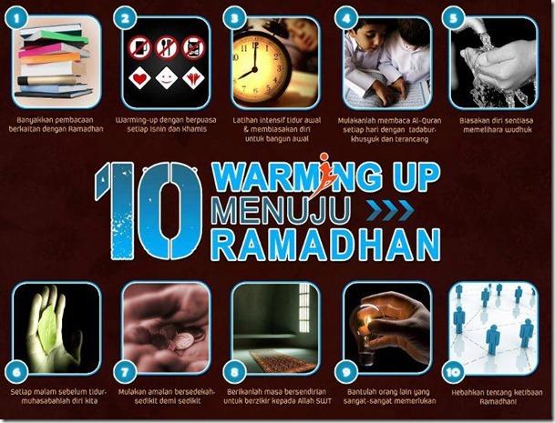 10 warming up menuju ramadhan