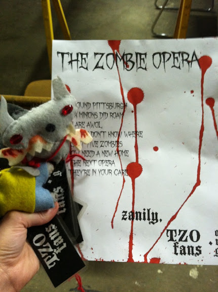 The remaining unclaimed zombies and another bloody letter:)