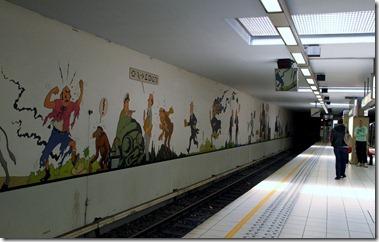 メトロ(地下鉄)ストッケル(Stockel)駅のホーム